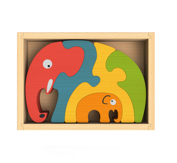 Elephant Family Puzzle - Juniper Millbrook