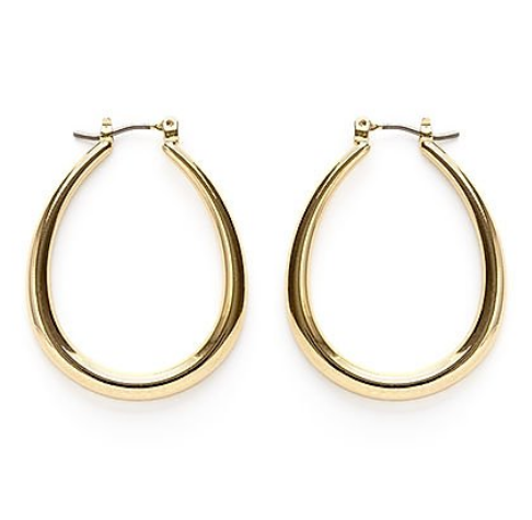 Oval Gold Hoops - Juniper Millbrook