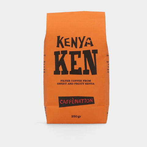 Empty 250 grams bags Kenya KEN - ORANGE (PER 25)