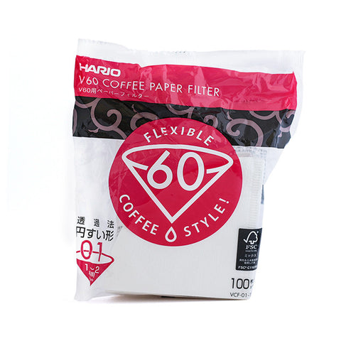 Hario V60 Paper Filters Size1 (100 filters pack)