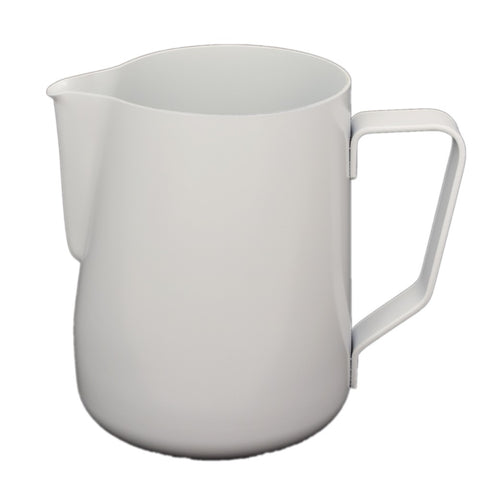Rhinowares Professional Milk Pitcher - White Teflon (in 2 Sizes)