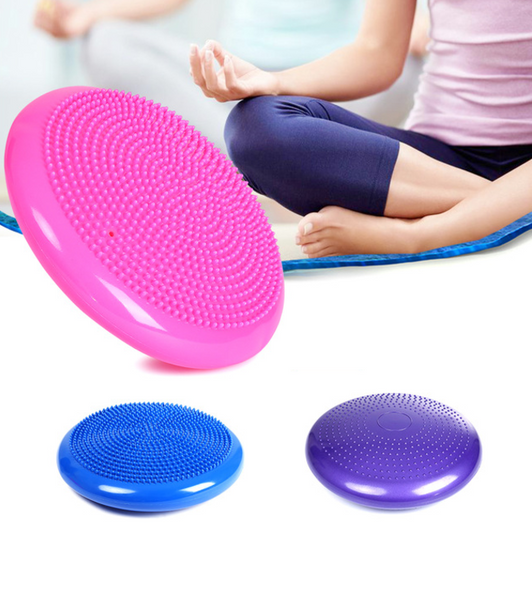 Inflatable balancing yoga - massage cushion to strengthen the core