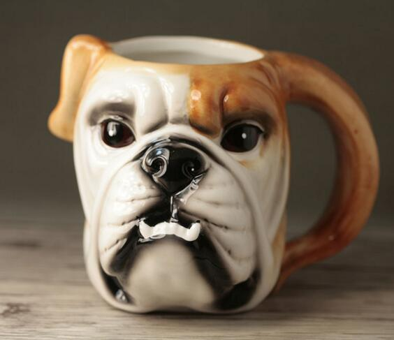 British Bulldog Doggie Mug - British Bulldog Mug - Tea - Coffee Mug - British Bulldog Mug - Coffee Cup - Tea Cup Bulldog Cup - Milk Cup