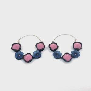 Spring Flower Power Hoops