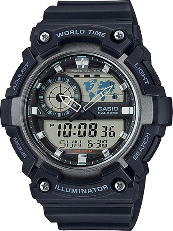 G-SHOCK WATER RESISTANCE AEQ-200W-1A