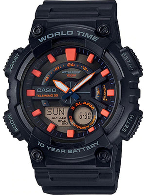 G-SHOCK WATER RESISTANCE WORLD TIME AEQ110W-1A2