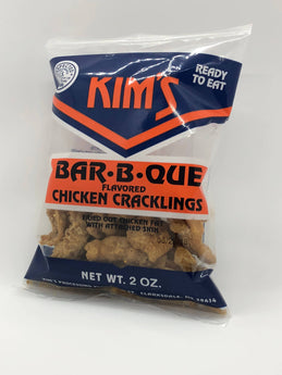 Buy Kim's Barbecue Chicken Cracklings Online. Order Chicken Cracklins In 12 18 And 36 Packs. Guaranteed Fresh With Fast Shipping.