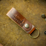 handcrafted horween brown key chain from edinburgh