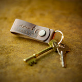 handcrafted full grain leather key chain from edinburgh