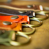 handmade leather key chain