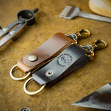 handcrafted full grain and vegetable tanned leather key chains