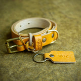 handcrafted full grain and vegetable tanned leather dog accessories