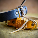 handmade full grain leather dog collars