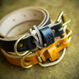 handcrafted full grain and vegetable tanned leather dog collar