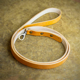 handcrafted full grain and vegetable tanned leather dog leash