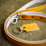 handcrafted leather dog leash