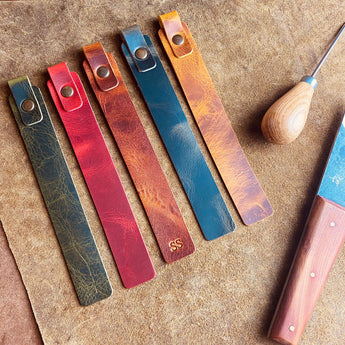handcrafted leather bookmark