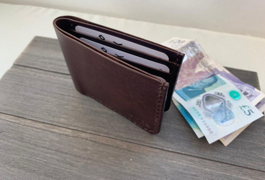 brown billfold wallet
