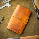 handmade full grain leather moleskine cover from scotland