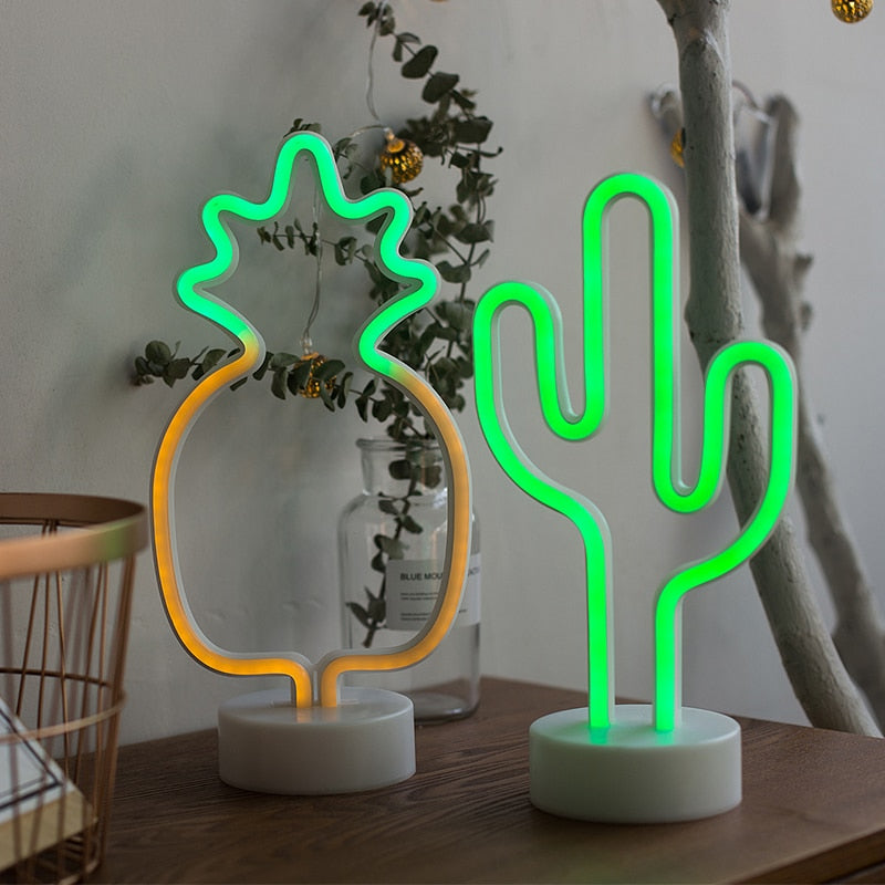 Cactus LED Neon Desk Light - By Succuterra | Succulents, Air Plants & Terrariums
