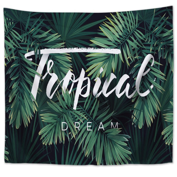 Wall Tapestry - Tropical Dream - By Plant Collective | Indoor House Plants, Succulents, Air Plants & Terrariums - Toronto Canada