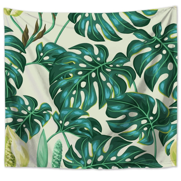 Wall Tapestry - Monstera Design 2 - By Plant Collective | Indoor House Plants, Succulents, Air Plants & Terrariums - Toronto Canada