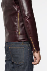 MEN'S COLOR 8 LEATHER MOTO JACKET