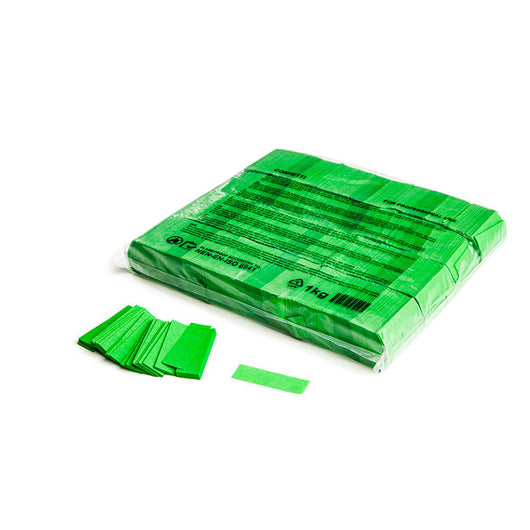 Slowfall confetti rectangles 55x17mm - Light Green