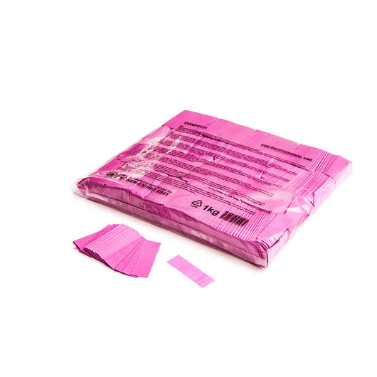 Slowfall confetti rectangles 55x17mm - Pink