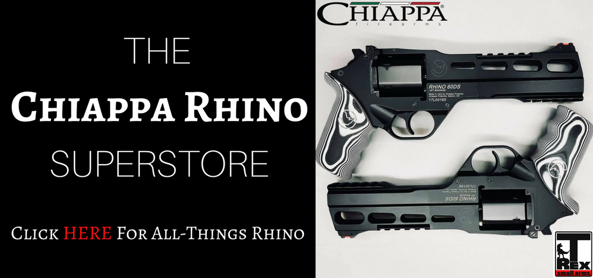 T-Rex Small Arms The Chiappa Rhino Superstore Revolvers For Sale Grips Holsters 60ds 50ds 40ds 30ds 200ds Black Chrome Gold White Charging OD Green Walnut Olive Wood Rubber Multi Laminate
