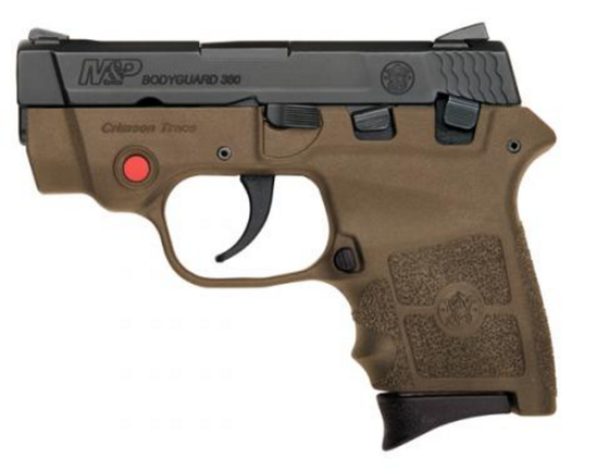 S&W M&P® BODYGUARD® 380 CRIMSON TRACE® INTEGRAL LASER FLAT DARK EARTH (10168)