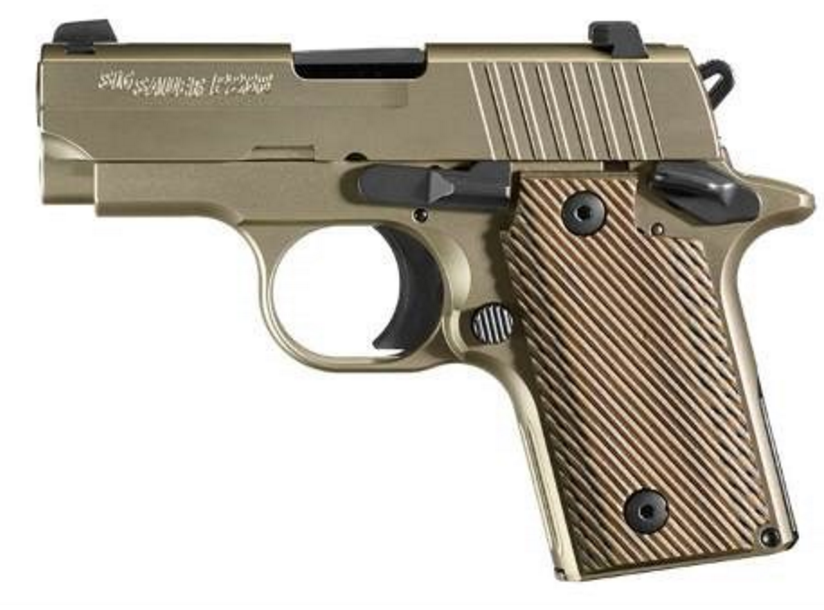 Sig Sauer P238 Nickel Stainless (238-380-NI) G10 grip