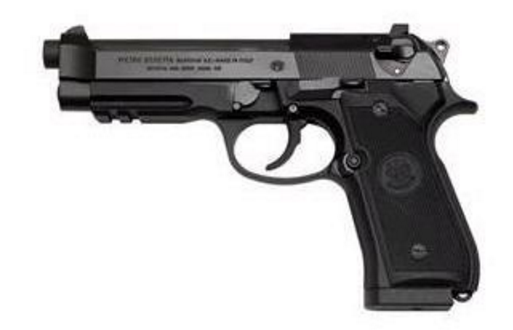 "Beretta 92A1, 9MM, 17+1, 4.9""barrel, w/Picatinny rail (J9A9F10)"