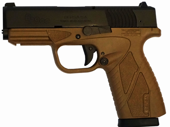 Bersa Concealed Carry 9mm FDE/Black (BP9DECC)