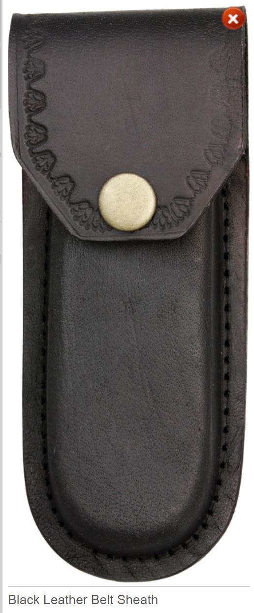 Black Leather Sheath 5""