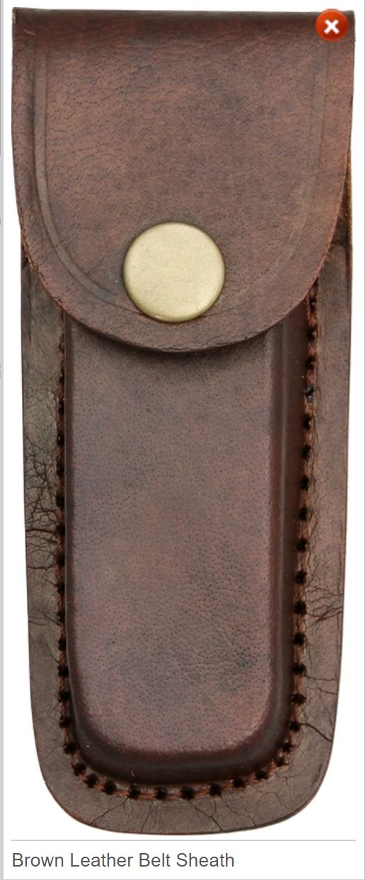 Brown Leather Sheath 4""