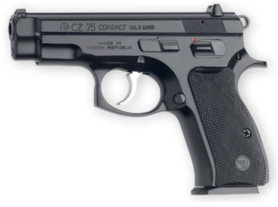 CZ 75C Compact 9mm BLK/BLK Rubber grip 10+1 (91190)