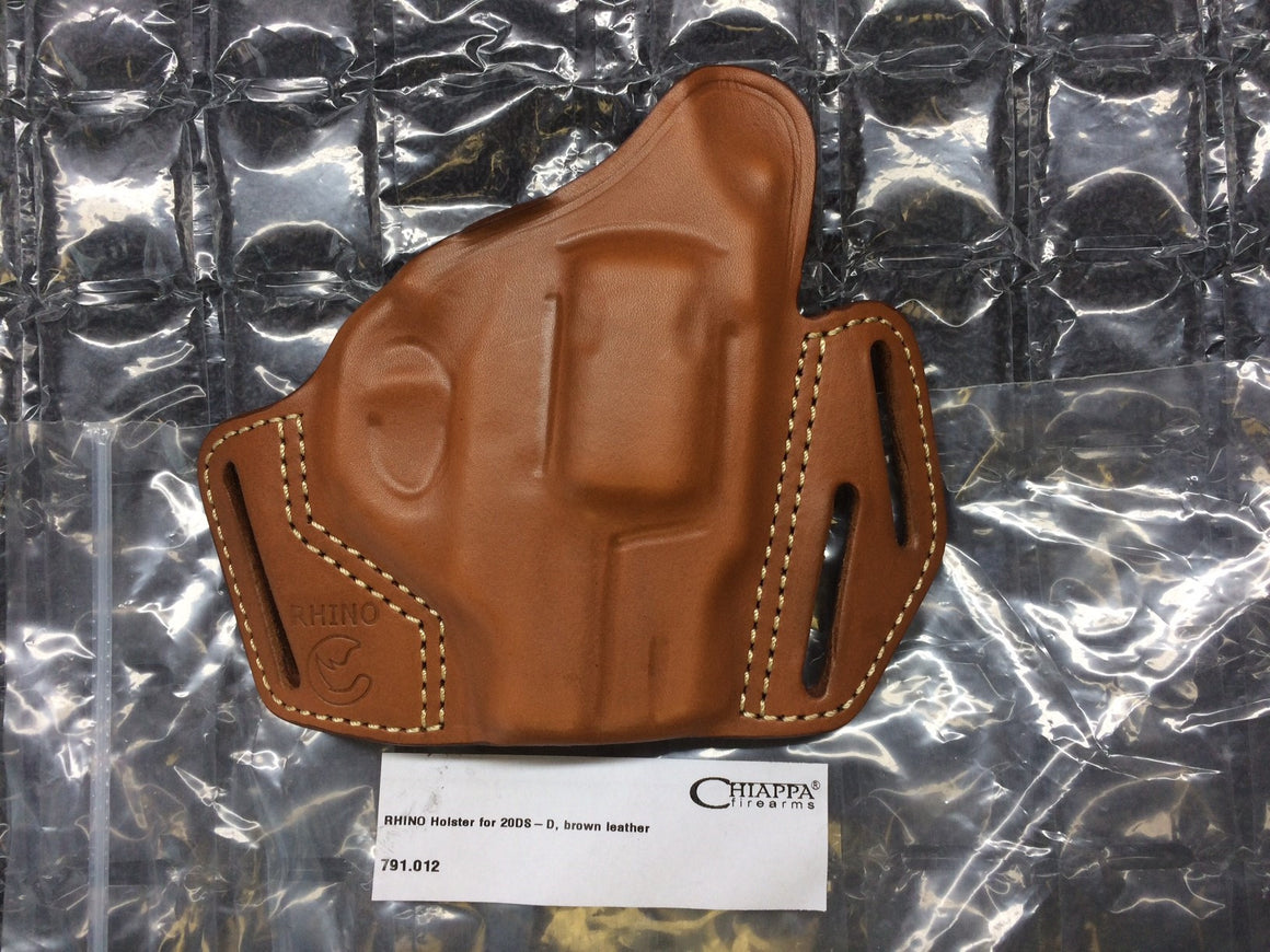 "Chiappa Rhino 2"" Leather Tan/Brown Pancake Holster"