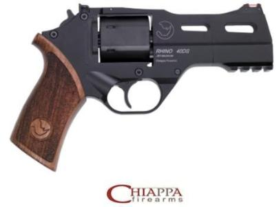 "CHIAPPA RHINO 4"" .357 MAG 40DS,  DA/SA Black w/walnut grip (340.219)"