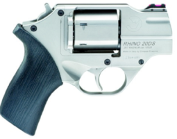 "Chiappa RHINO, 2""  20DS, .357 MAG / .38 SPEC, DA/SA, , Satin Chrome, 6RD, W/Leather Holster (CF340.218)"