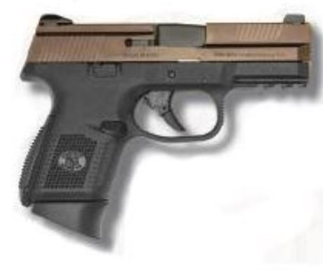 FNS-9C 9MM BRONZE/BLK 12+1 FS STRIKER FIRED | BRONZE SLIDE 9mm (FN66-100010 )