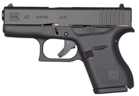 Glock 43 - Slimline, Single-Stack, Subcompact, 9 mm (PI4350201)