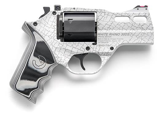 "CHIAPPA - WHITE RHINO 3"" .357MAG REVOLVER 30DS 3IN BBL 3MOON CLIPS 6RND ADJ. REAR SIGHT (340.262)"
