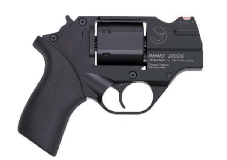 "CHIAPPA RHINO 2"" .357 MAG/ 9mm Conversion dual cylinder 200DS DA/SA w/Leather Holster (340.236)"