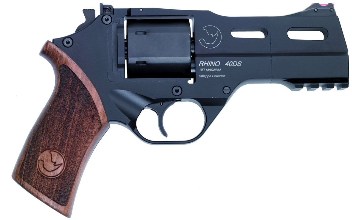 "CHIAPPA RHINO COMBO PACKAGE 4"" .357 MAG & 9mm 40DS,  DA/SA Black w/walnut grip (340.238)"