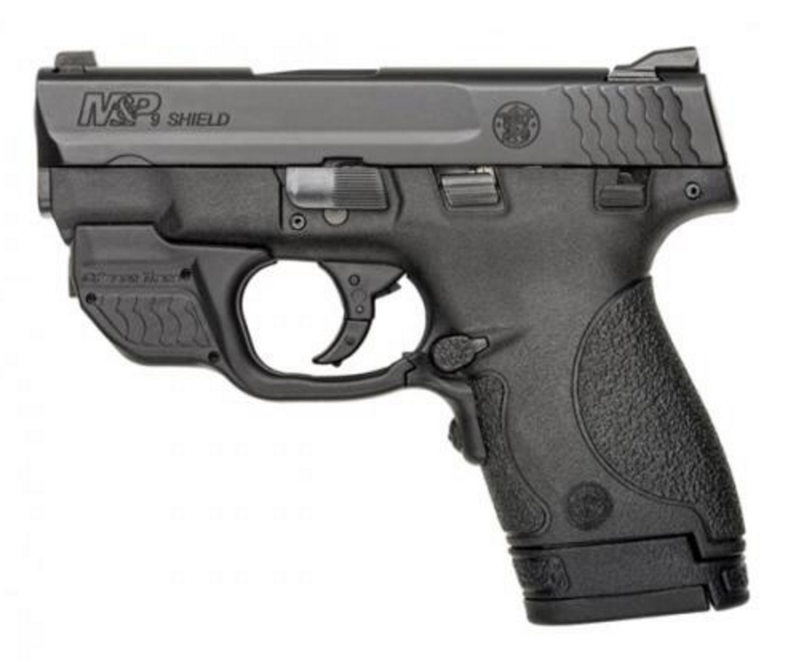 S&W M&P®9 SHIELD™ CRIMSON TRACE® GREEN LASERGUARD® (10141)