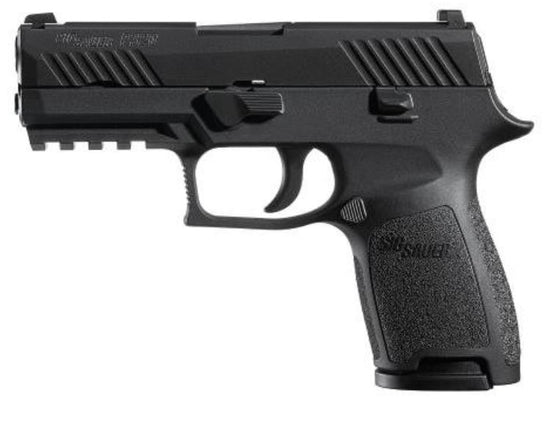 "Sig Sauer, P320 Compact, Striker Fired, 45ACP, 3.9"" Barrel, Polymer Frame, Nitron Finish, Fixed Sights, 9rd Magazine, with 1913 Rail (320C-45-B)"