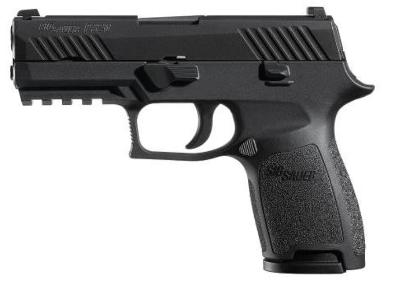 "Sig Sauer, P320 Compact, Striker Fired, 9mm, 3.9"" Barrel, Polymer Frame, Nitron Finish, Fixed Sights, 15rd Magazine, with 1913 Rail (320C-9-B)"