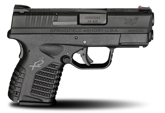 "Springfield Armory - 3.3"" SINGLE STACK .45ACP BLACK (XDS93345BE)"