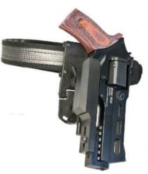 Chiappa Rhino Competition Holster - Fastest, safest and most innovative IPSC holster. Fully free-floating, adjustable in tilt, height and distance from your body, the locking mechanism allows you to draw straight from the holster without having to lift the gun first.